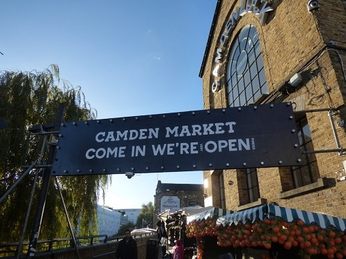 free things to do in Camden like window shopping in the market