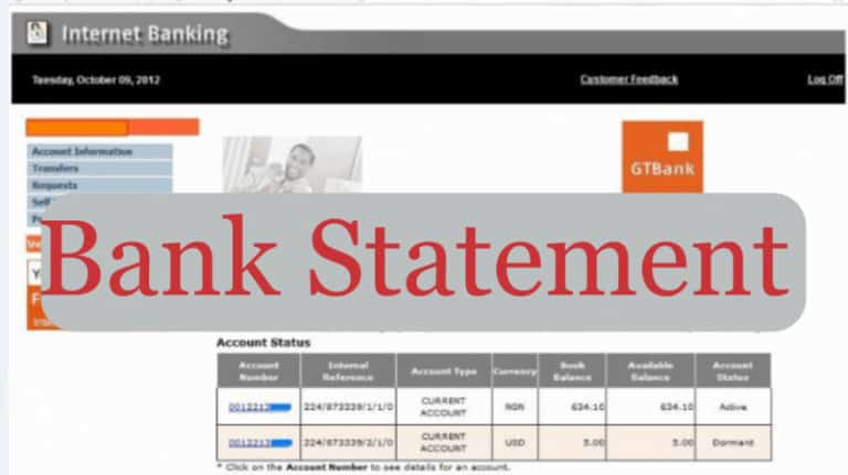 how to get a bank statement for visa application