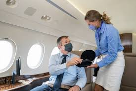Flight attendant during the corona virus out break