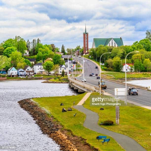 Bathurst town overview from Waterfront, New Brunswick, Canada