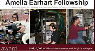 Amelia Earhart Fellowship for 35 Women from Any  Country- Up to $10,000 each 2013