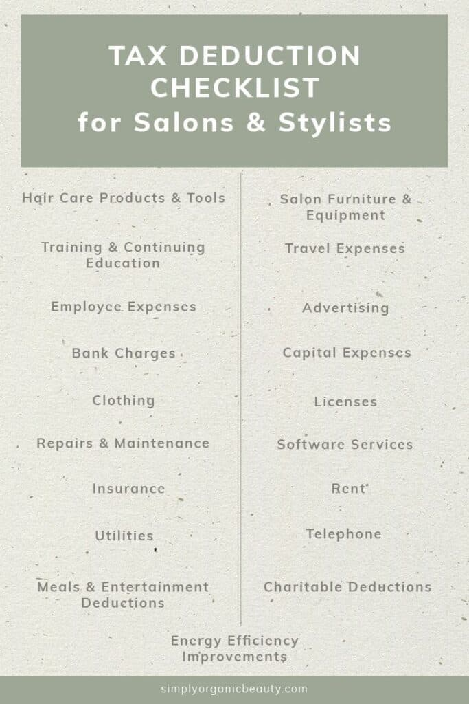 Tax considerations for mobile esthetics business