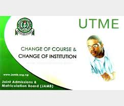 How to do jamb change of course and change of institution