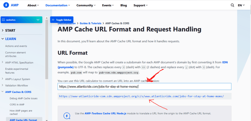 Clear the AMP cache on a few power URLs and the home page