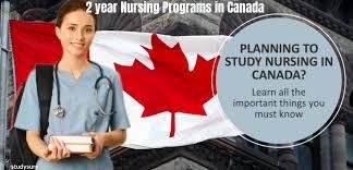 2 year nursing programs in Canada for international students