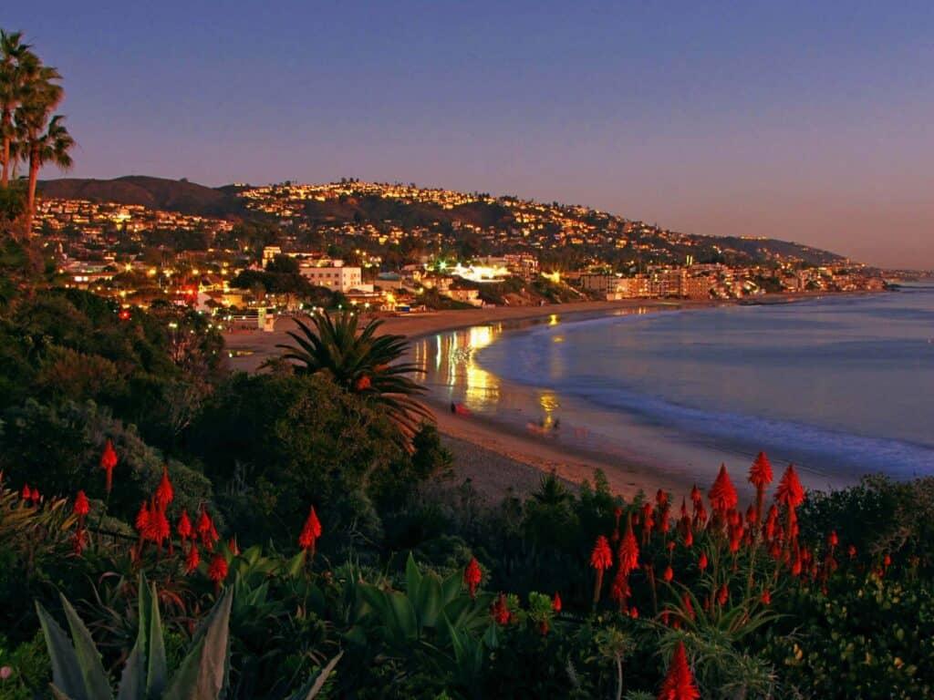 Laguna Beach, CA at night